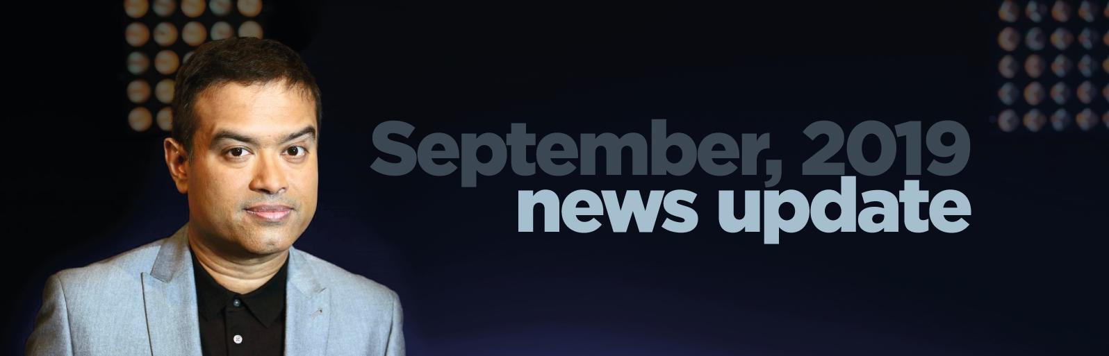 September 2019 news